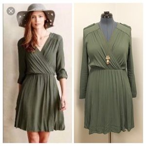 • L/14 • EUC Maeve Lene Utility Wrap Dress •